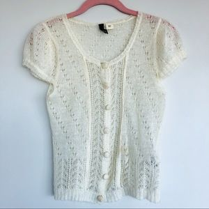 Vintage Inspired Mohair Blend Knit Blouse